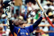 Sanath Jayasuriya Autograph Signed Photo